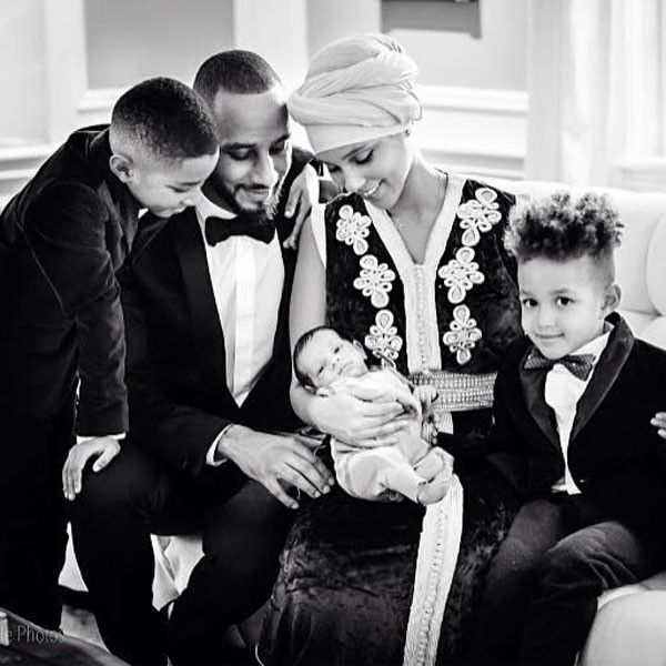 Alicia Keys and Swizz Beatz Show Off First Photos of Baby Genesis—and It's a Black-Tie Family Affair!  Alicia Keys, Swizz Beatz, Baby Genesis, Instagram