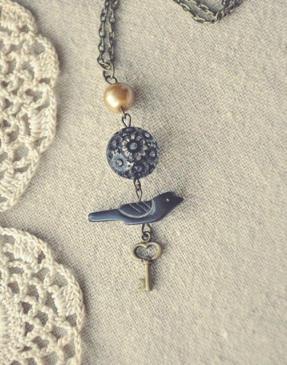 raven's garden necklace. by bellehibou on Etsy