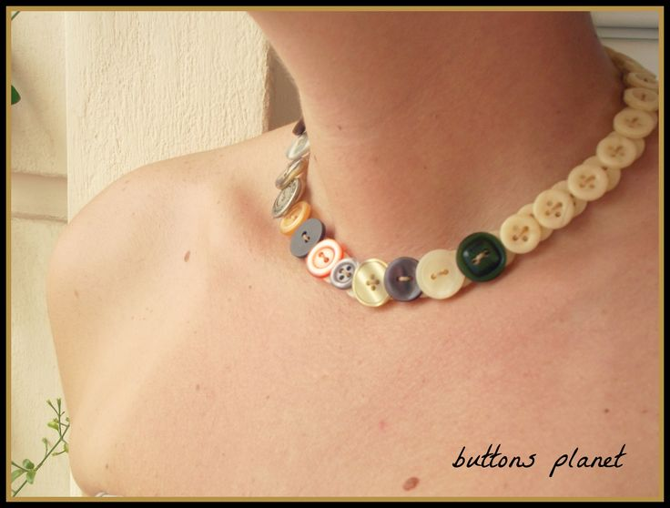 #necklace #buttons