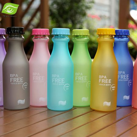 $2.81// BPA Free Frosted water bottle// Multiple colors available// Delivery: 2-4 weeks