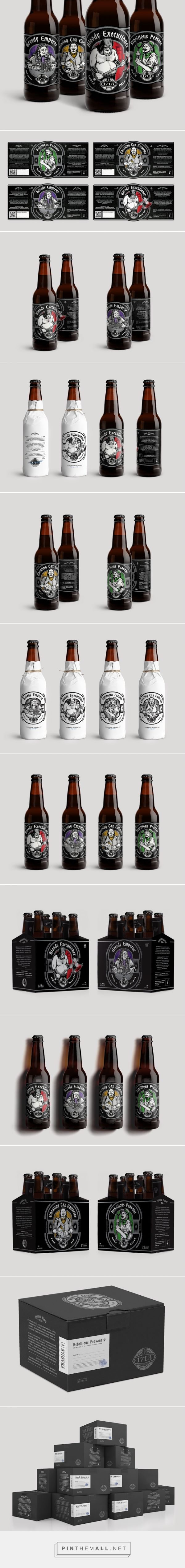 1713 Brewing Co. #beer #packaging designed by Milovanović​ - http://www.packagingoftheworld.com/2015/06/1713-brewing-co.html