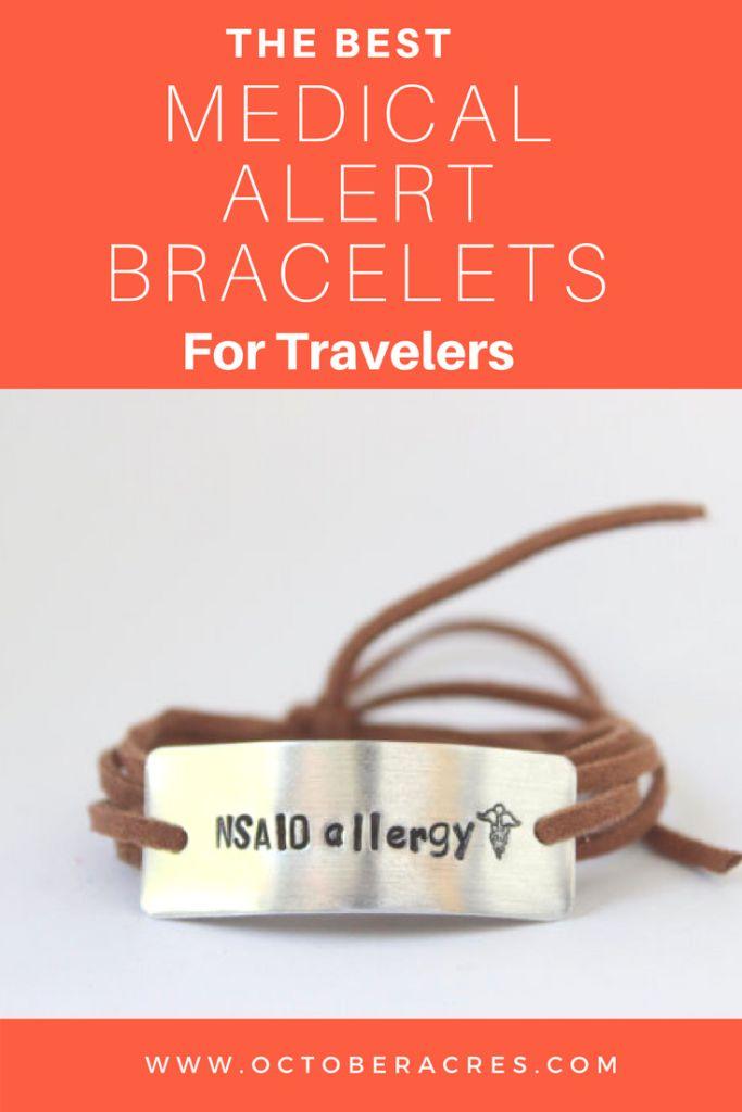 Best allergy and medical alert bracelets.  Visit to see all bracelets available. #medicalalert #allergyalert #diabetes #foodallergies #familytravel