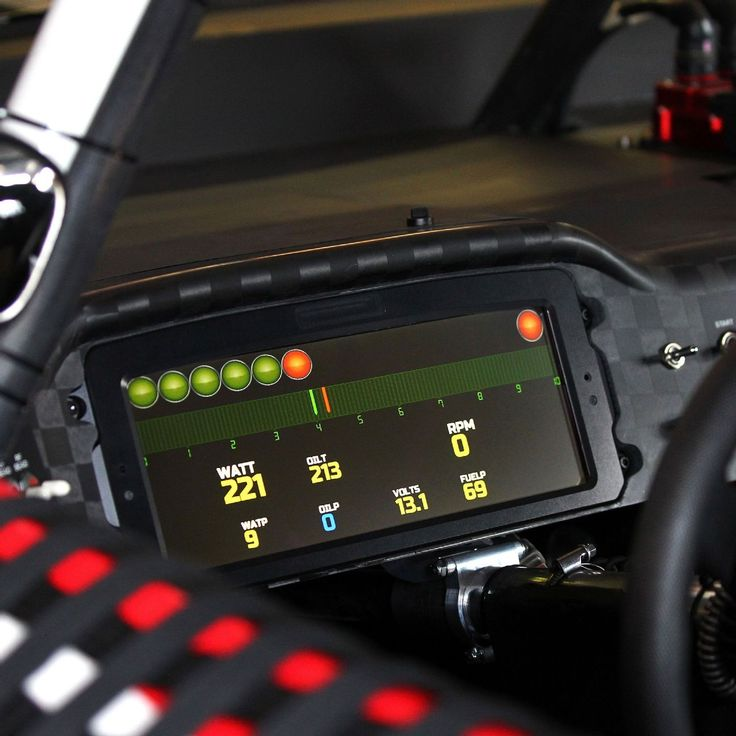 Digital Dashboard for Race Cars | Kurt Busch racing with new digital dashboard at Darlington