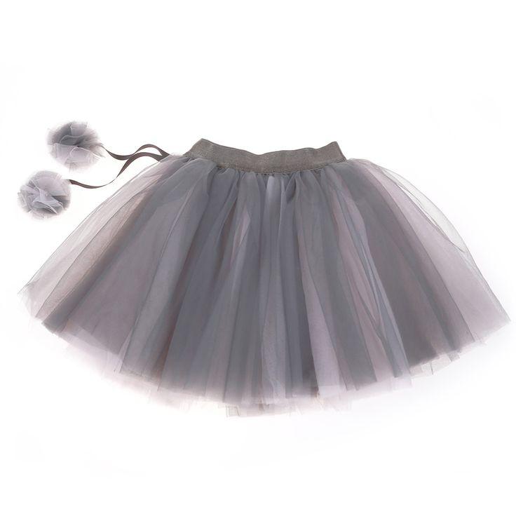 Britt - Charcoal Pom Pom Skirt 4-5 Years | Peter's of Kensington