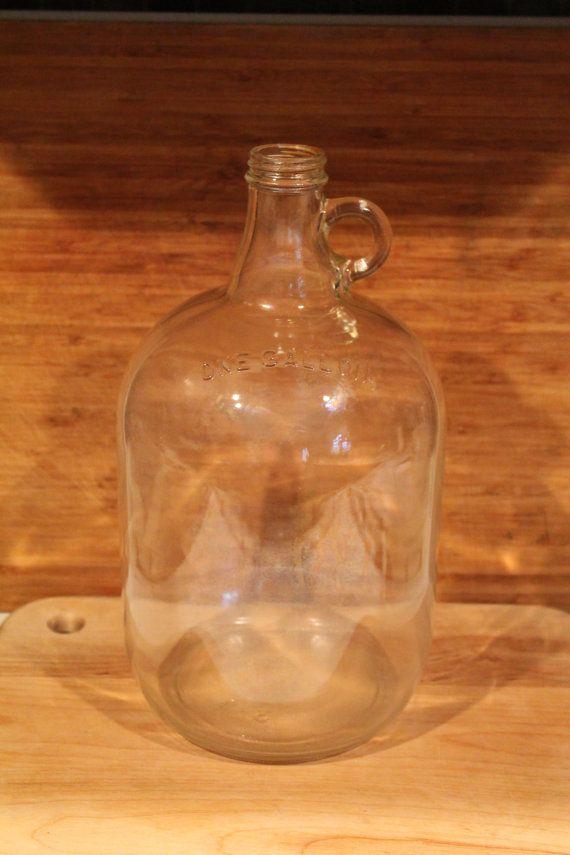 Vintage Glass One Gallon Jug Bottle Old By Avintageday On