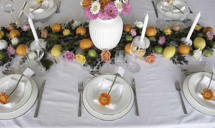 Konfirmasjon borddekking fargerik 6 table setting colorful