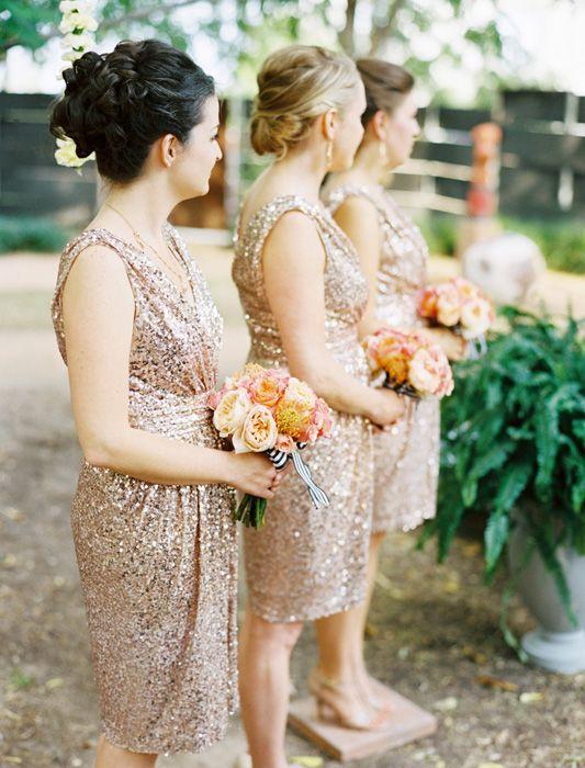 Sequin bridesmaid dresses, #renttherunway