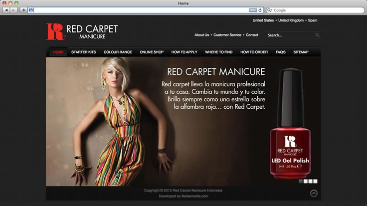My latest work: Red Carpet Manicure Indonesia