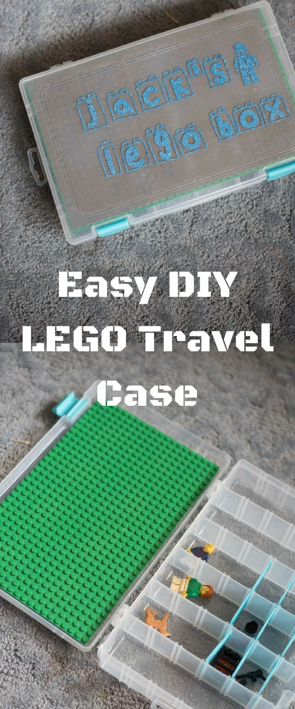 If you have little Lego lovers at home, you'll want to make this easy DIY Lego travel case to help keep them entertained on the go!