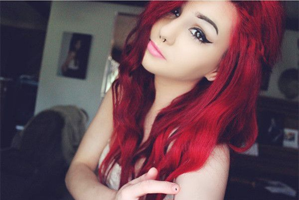 Bright red DIY hair color show from customer~ let's try ideal hair color and keep it longer