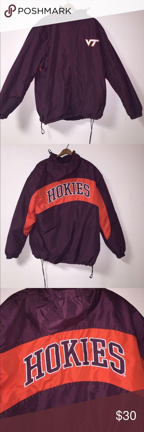 Virginia Tech Jacket NCAA Virginia Tech winter Jacket with hood NCAA men's medium NCAA Jackets & Coats