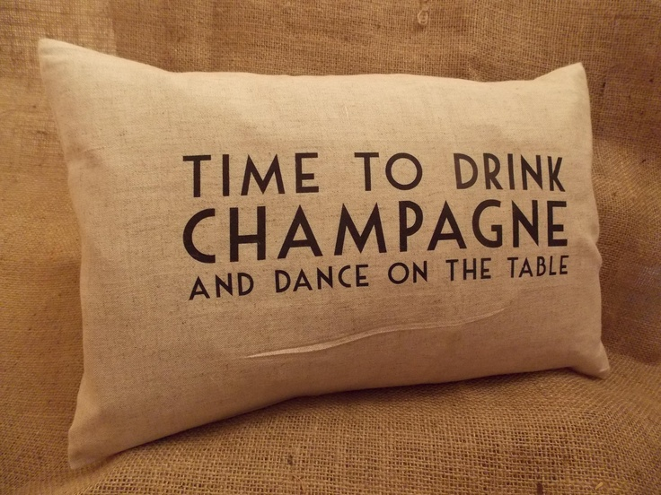Luxury Feather Filled Cushion - Time to Drink Champagne, £16.50