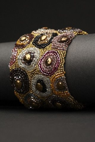 Vintage Circle Couture Cuff | Andrea Gutierrez Jewelry