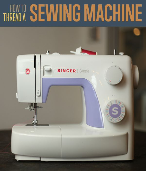 How to Thread a Sewing Machine | Sewing Basics |  Step-by-step tutorial shows you exactly how to thread a sewing machine. #DIYReady | diyready.com
