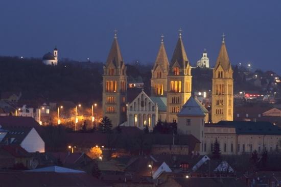 Pecs by night!    Hungary