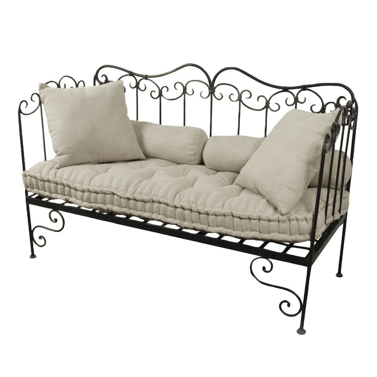 Wrought Iron Bench - French Home - French Home...outside terrace