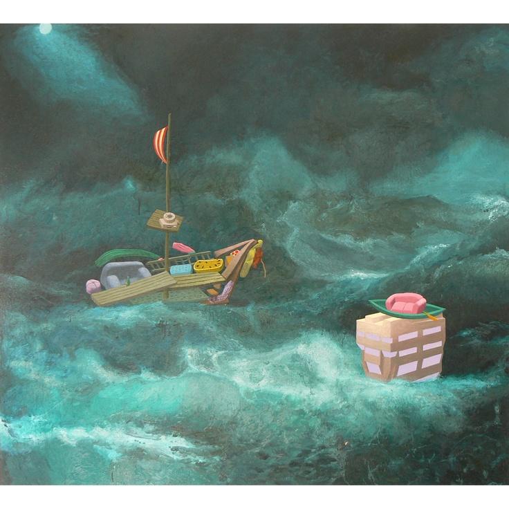 Andrew McLeod 'Seascape'  (2009)  Oil on Linen  180 x 200 cm