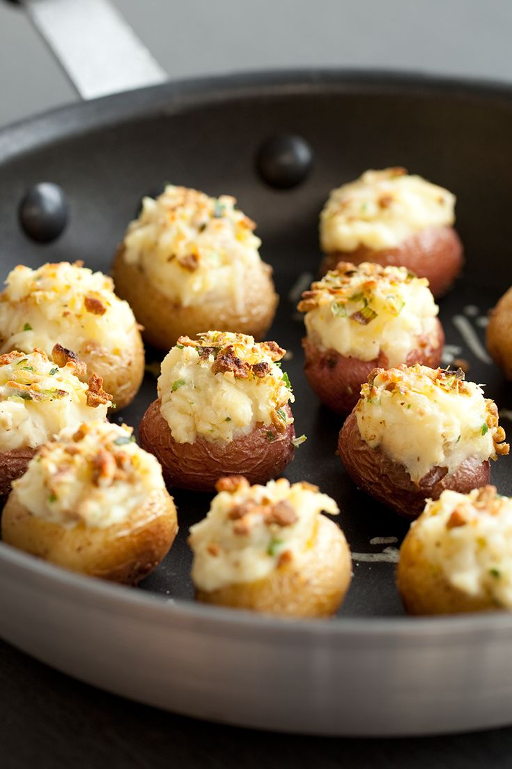 Twice-baked Baby Potatoes #vegetarian