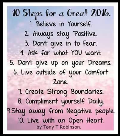 10 Steps for a great 2016