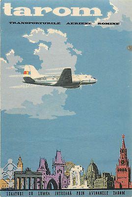 Transporturile Aeriene Romine ~TAROM~ Beautiful & Scarce ROMANIAN Airline Label