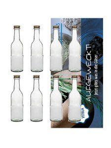 Bordeaux 20 bouteilles en verre vides avec bouchon à vis 250 ml doré pour liqueur alcool likörflasche bouteille en verre