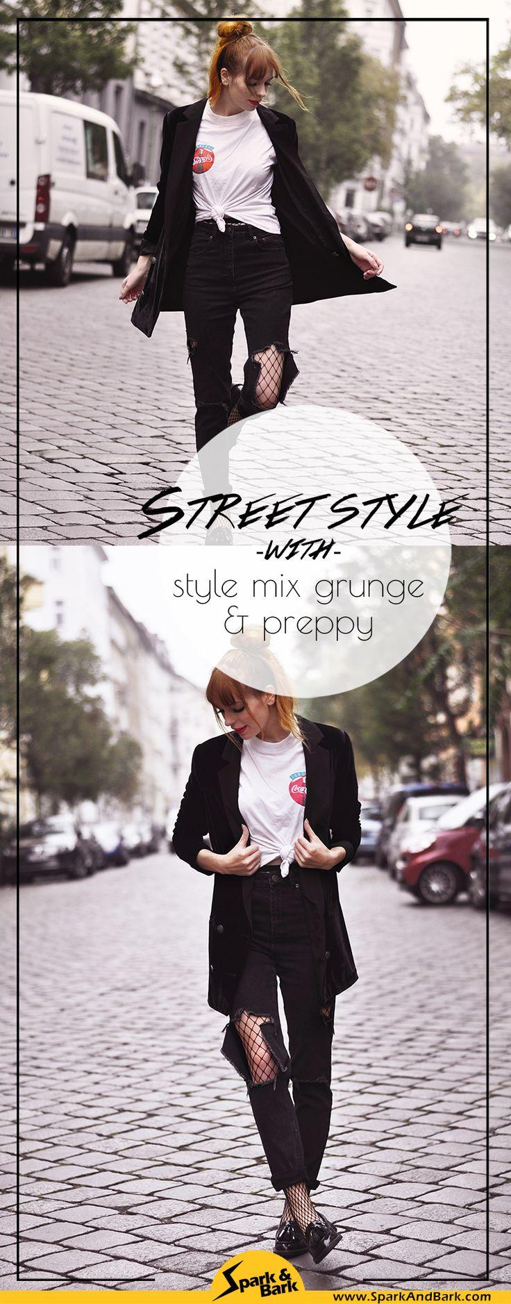 Grunge and preppy style mix Berlin street style, Berlin grunge street fashion