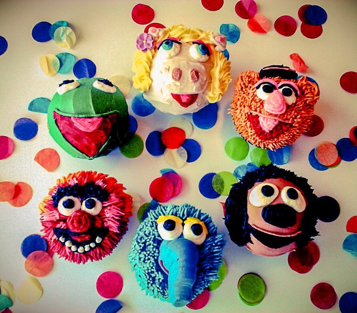 Muppet Cupcakes from Trophy Cupcakes