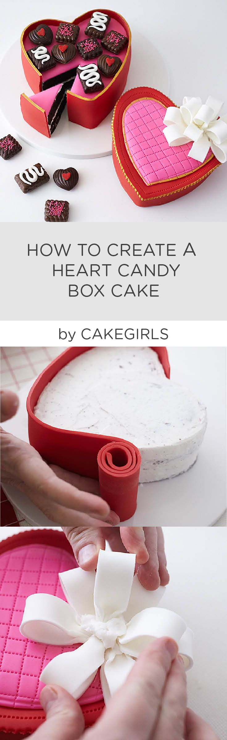 Check out our latest Step x Step Tutorial to see how to create a life like heart shaped box of chocolates! | Cakegirls Step x Step
