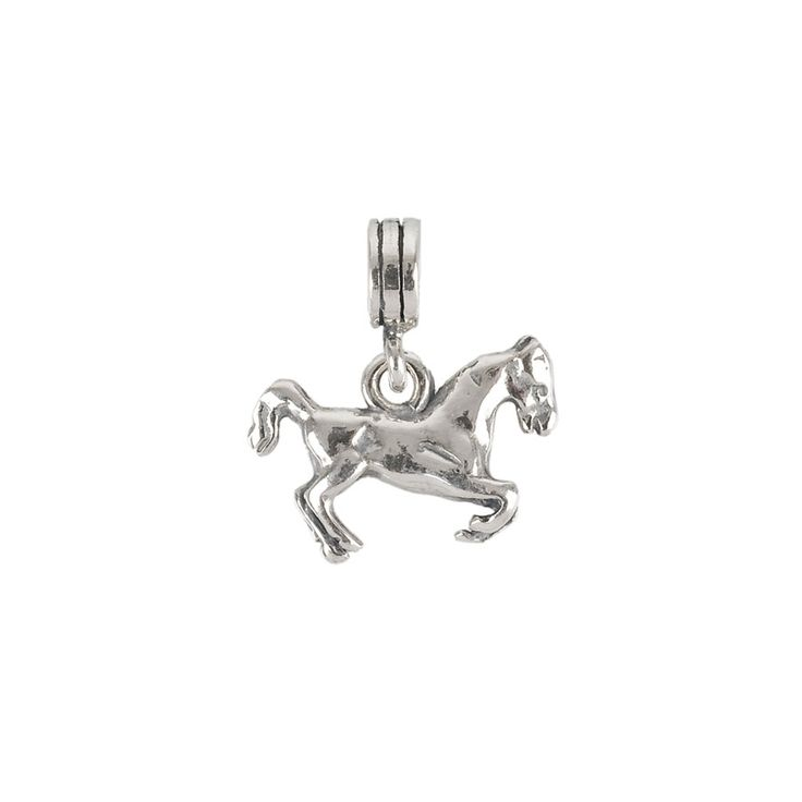 Genuine Sterling Silver Horse Clip On Charm qkERPIXN8