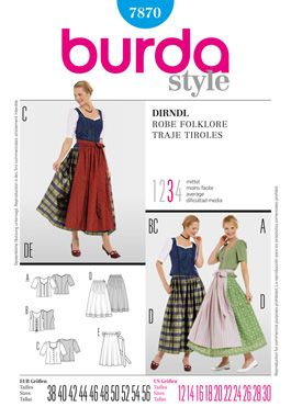 Simplicity Creative Group - Burda Style, Dirndl Dress