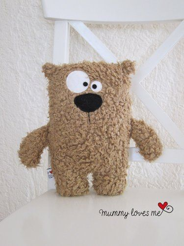like ! sewing project for kids : make a plush (little bear - very simple and a…