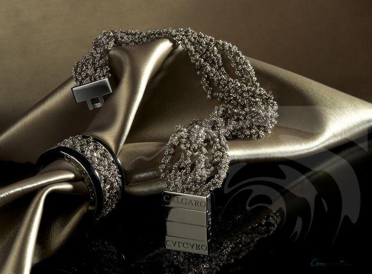 Calgaro stretch silver bracelet & matching ring