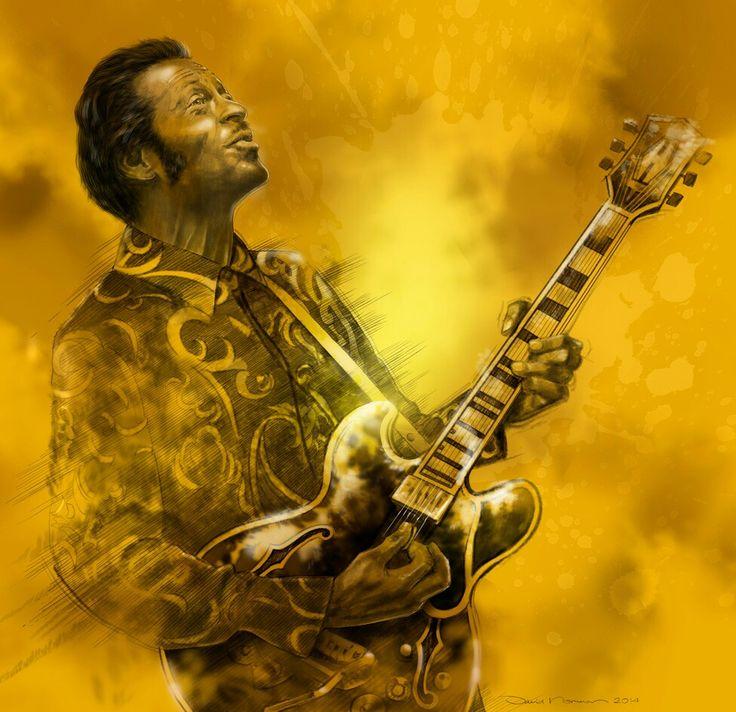 Chuck Berry. Als Poster erhältlich auf meiner Webseite: goo.gl/jvgwQl