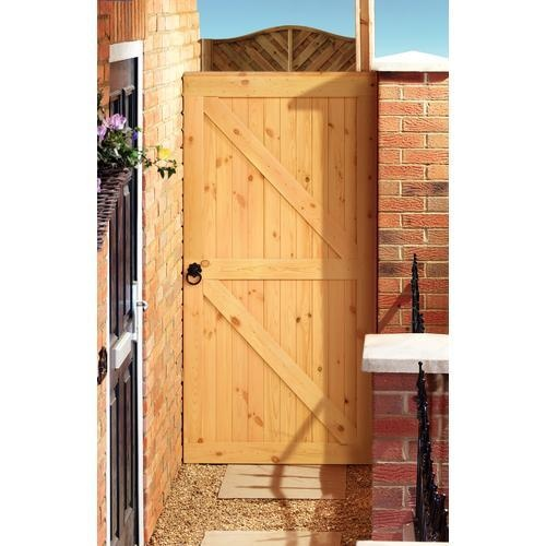 Framed Ledged & Braced Gate 1829 x 915mm - Wooden Gates - Gates & Metal Railings -Gardens - Wickes
