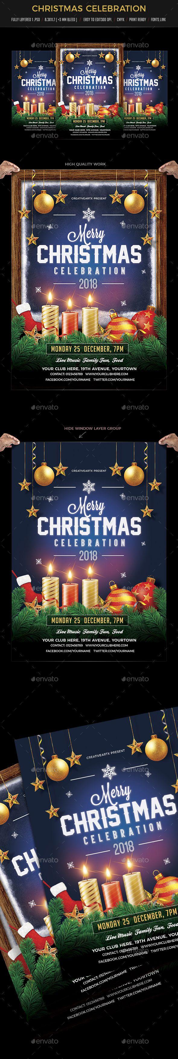 #Christmas #Celebration - Events Flyers