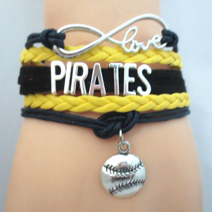Infinity Love Pittsburgh Pirates Baseball - Show off your teams colors! Cutest Love Pittsburgh Pirates Bracelet on the Planet! Don't miss our Special Sales Event. Many teams available. www.DilyDalee.co