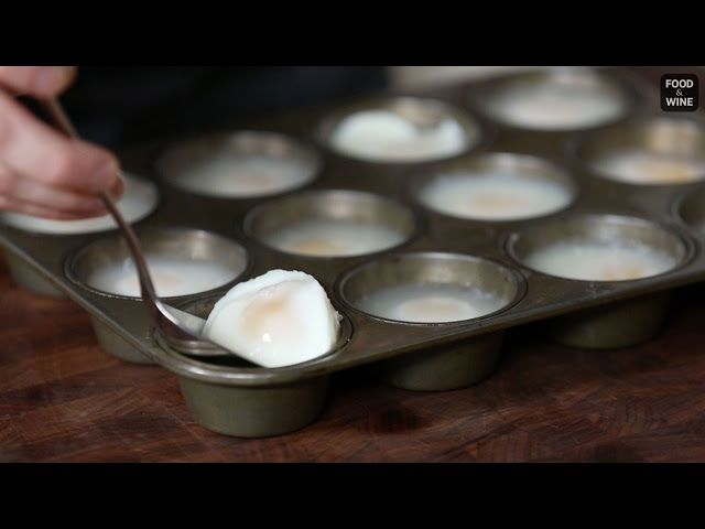 Poaching a lot of eggs at once using the traditional method is time-consuming (not to mention tough). With a muffin tin, you can poach a dozen at once with no problem.