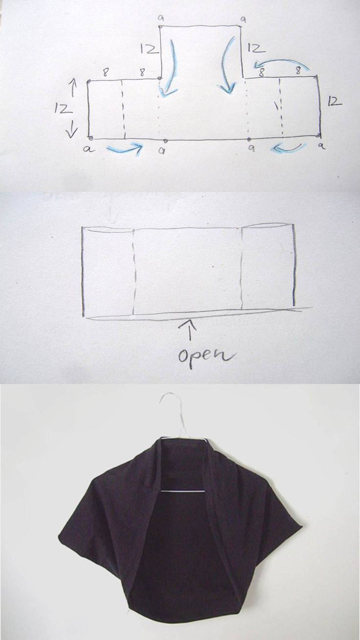 DIY Square Bolero Tutorial