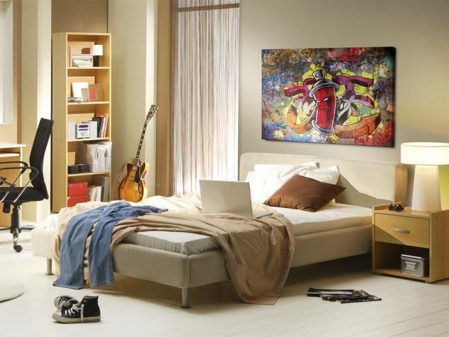 Obraz na ścianę graffiti do pokoju nastolatka. Kreatywne mieszkanie z kreatywnymi grafikami na ścianie!