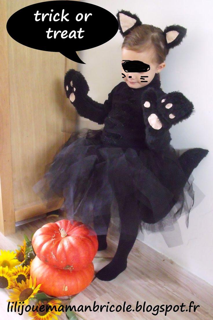 tuto pour creer facilement un costume chat noir pour halloween pour une fillette