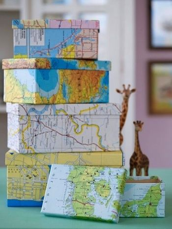 Craft Ideas With Maps | Craft ideas