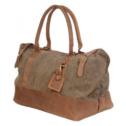 43 OSCAR™ Canvas leather shoulder bag holdall