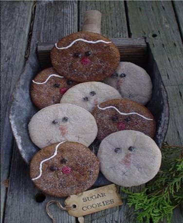 prim snowman & gingerbread fillers