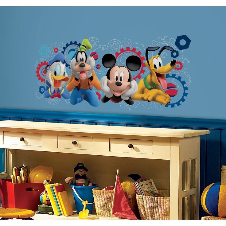 Roommates Disney Mickey Mouse Clubhouse Capers Peel and Stick Giant Wall Decals