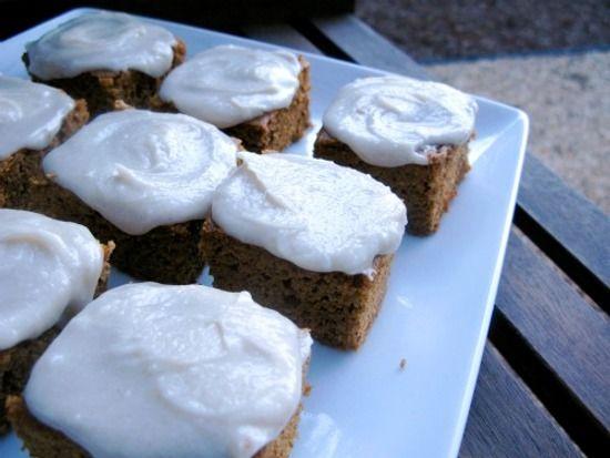 Pumpkin Cake Bars With Cinnamon Icing (grain-free, gluten-free, & dairy-free)
