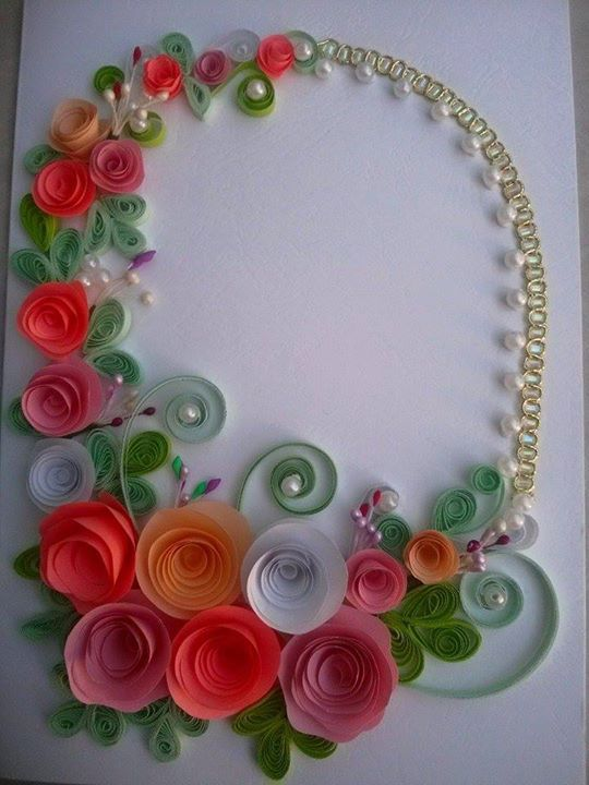 7928 best images about quilling on pinterest for Paper quilling work