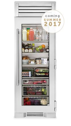 "True Residential - 30"" Glass Door Refrigerator Column"