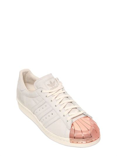Adidas Originals Blue - SUPERSTAR ROSE PLAQUE LEATHER SNEAKERS -  LUISAVIAROMA - worldwide shipping