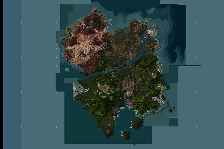 Battle for Azeroth. Map of Zandalar