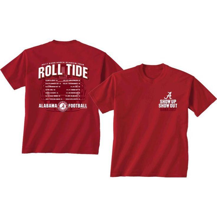 New World Graphics Men's Alabama Crimson Tide Crimson 2017 Football Schedule T-Shirt, Size: Medium, Team
